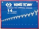 Набор комбинированных ключей KING TONY 1215MRN01