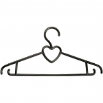 Вешалка пластик. для легкой одежды размер 44-46, 400 мм ТМ Elfe 92910