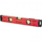 Купить Уровень алюминиевый магнитный, 400 мм, фрезерованный, 3 глазка (1 зеркальный), усиленный MATRIX 34704