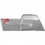 Купить Гладилка из нержавеющей стали, 280 х 130 мм, деревянная ручка, зуб 6 х 6 мм MATRIX 86737