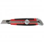Купить Нож, 18 мм, выдвижное лезвие, металлическая направляющая, винтовой фиксатор лезвия MATRIX 78914