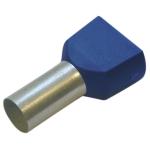 Двойной изол. втулочный наконечник 2.5/10 синий Haupa