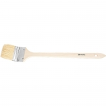 Купить Кисть радиаторная 1, 5 , натуральная щетина, деревянная ручка MATRIX 83843