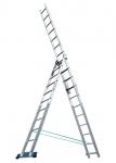 Купить Лестница, 3 х 11 ступеней, алюминиевая, трехсекционная Pоссия, Алюмет