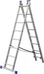 Лестница алюминиевая двухсекционная ЗУБР ЭКСПЕРТ 38821-08  - Купить