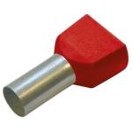 Двойной изол. втулочный наконечник 1/10 красный Haupa